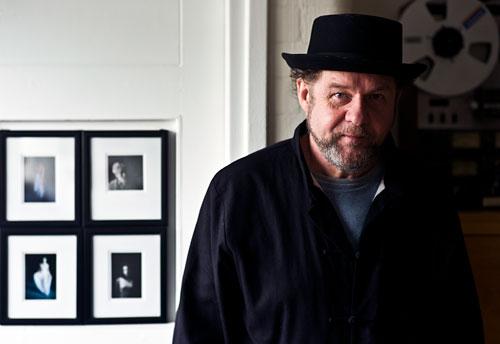 Mike Figgis in his studio